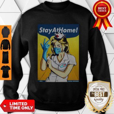 Official Stay Home Fight Coronavirus For Sweatshirt