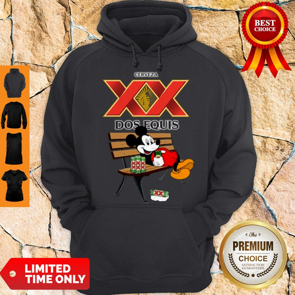 Nice Mickey Mouse Drinking Dos Equis Xx Beer Hoodie