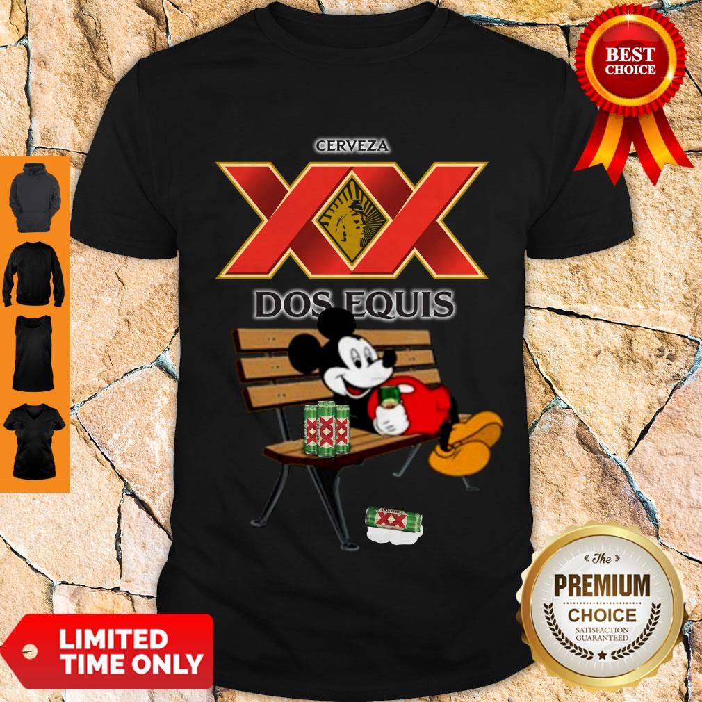 Nice Mickey Mouse Drinking Dos Equis Xx Beer Shirt
