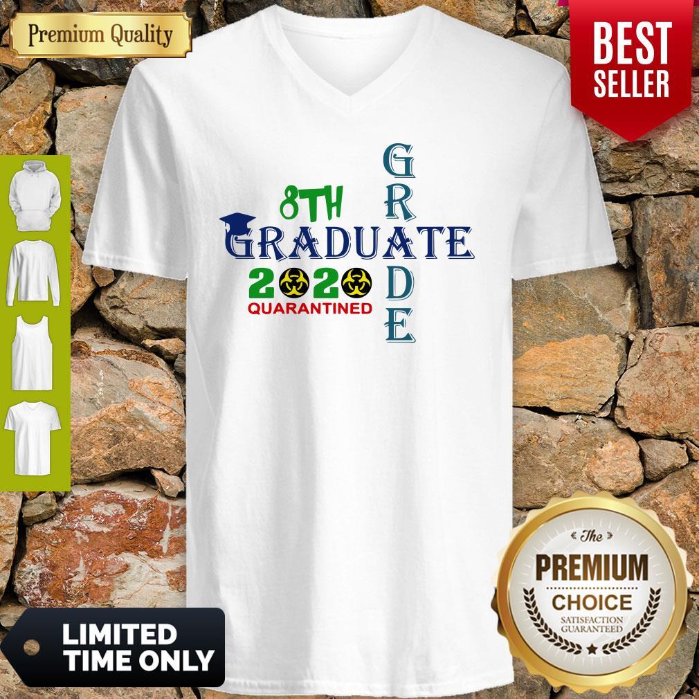 Premium 8th Grade Graduation 2020 Quarantine Cross V-neck