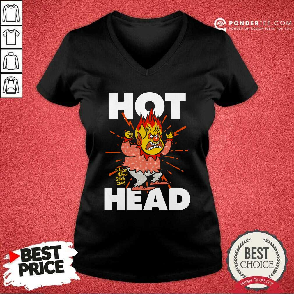 Heat Miser Hot Head The Year Without A Santa Claus V-neck - Desisn By Pondertee.com