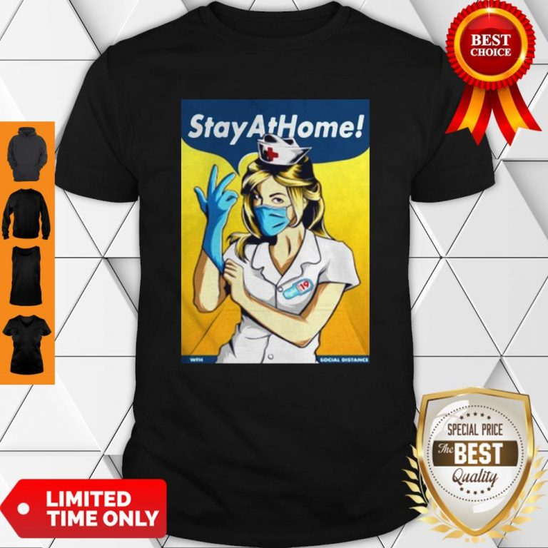Official Stay Home Fight Coronavirus For Shirt