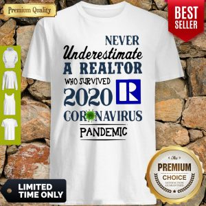 Never Underestimate A Realtor Logo Who Survived 2020 Coronavirus Shirt