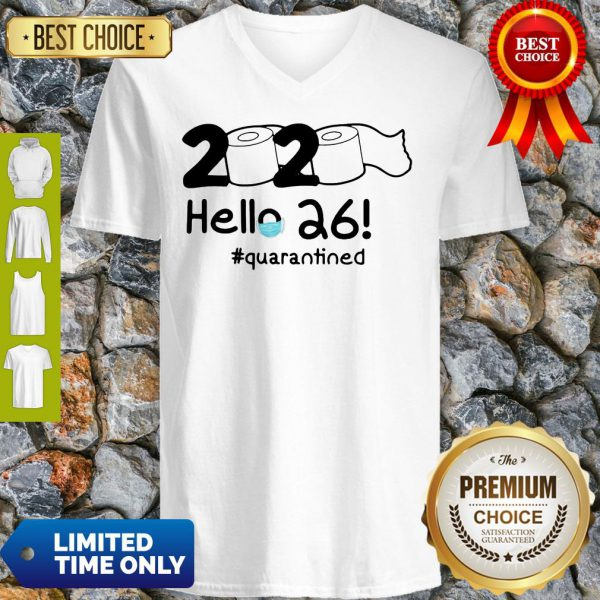 Official 2020 Hello 26 #Quarantined V-Neck