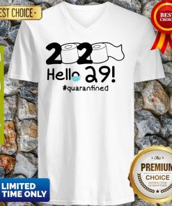 Official 2020 Hello 29 #Quarantined V-Neck