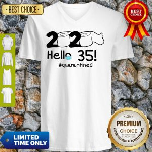 Official 2020 Hello 35 #Quarantined V-Neck