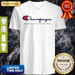 Breakfast Of Champions Champagne V-Neck