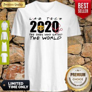 Lab Tech 2020 The Ones Who Saved The World Coronavirus V-Neck