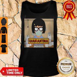 Official Tina Burger Quarantina Toilet Paper Tank Top