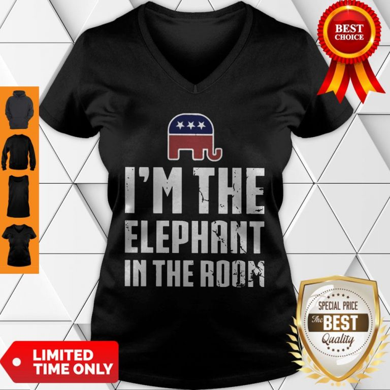 Official I'm The Elephant In The Room V-Neck