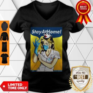 Official Stay Home Fight Coronavirus For V-Neck