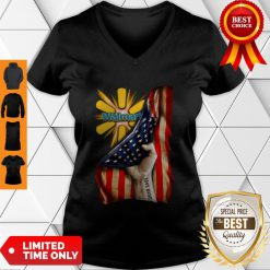 Walmart Proud American Flag Personalized V-neck