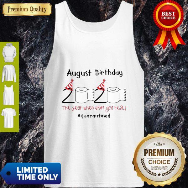Toilet Paper 2020 August Birthday Quarantine Tank Top
