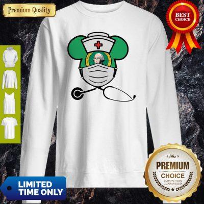 Official Mickey Nurse Face Mask George Washington Sweatshirt