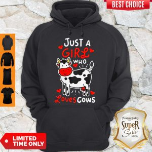 Top Girl Who Loves Cows Hoodie