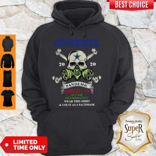 Premium Skull Cowboys 2020 Pandemic Covid-19 Hoodie