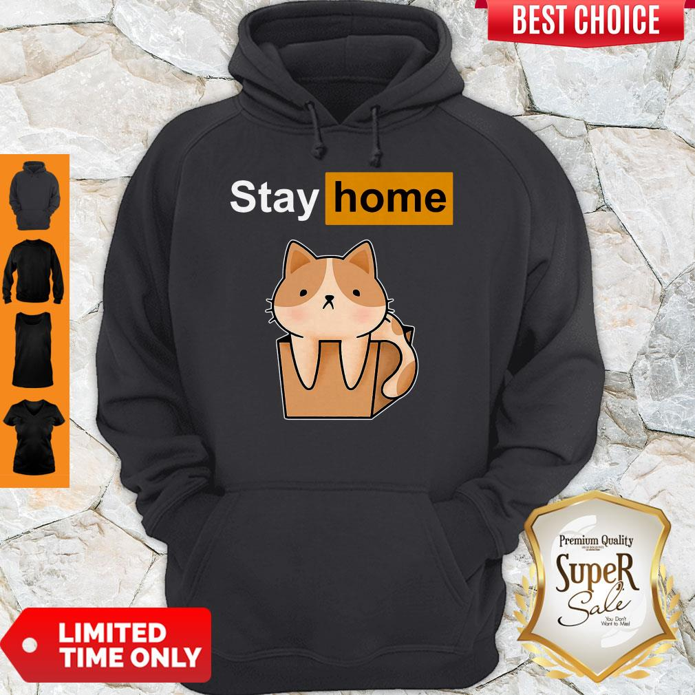 Funny Official Cat stay home Hoodie