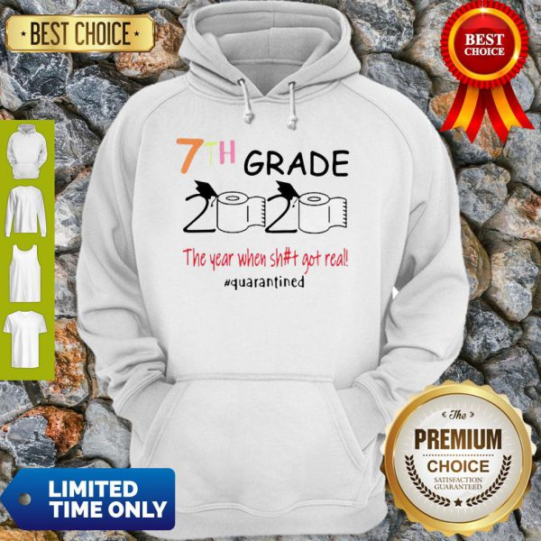 Toilet Paper 7th Grade 2020 The Year When Shit Got Real COVID-19 Hoodie