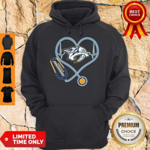 Star Heartbeat Nurse Nashville Predators Hoodie