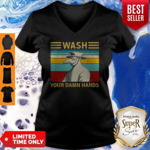 Plague Doctor Wash Your Damn Hands Vintage Coronavirus V-neck