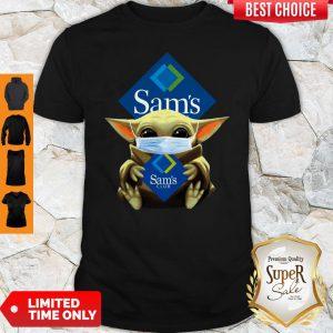 Baby Yoda Mask Sam's Club Coronavirus Shirt
