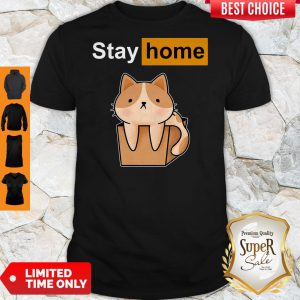 Funny Official Cat stay home shirt