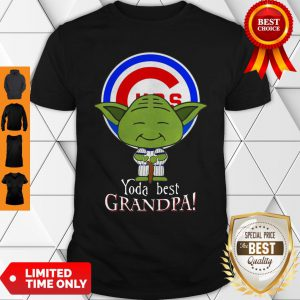 Yoda Best Grandpa Chicago Cubs Shirt