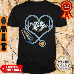 Star Heartbeat Nurse Nashville Predators Shirt