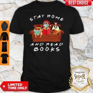 Hugsy Penguin Stay Home And Read Book Coronavirus Shirt