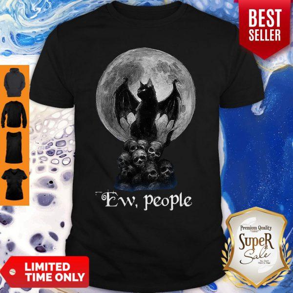 Mickey Bat And Black Cat Moon Skull Ew People shirt