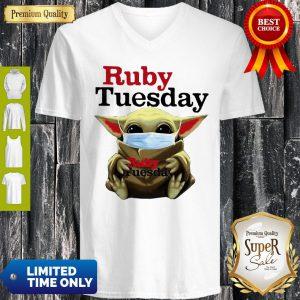 Star Wars Baby Yoda Hug Ruby Tuesday COVID-19 V-neck