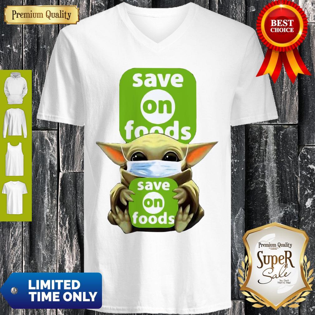 Star Wars Baby Yoda Hug Save On Foods COVID-19 V-neck