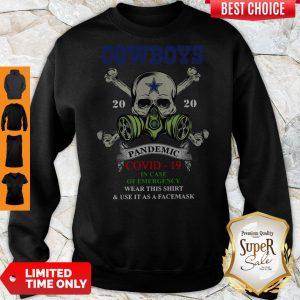 Premium Skull Cowboys 2020 Pandemic Covid-19 Sweatshirt