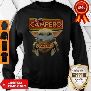 Official Baby Yoda Face Mask Pollo Campero Sweatshirt