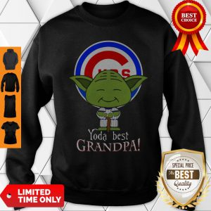 Yoda Best Grandpa Chicago Cubs Sweatshirt