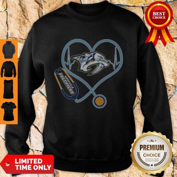 Star Heartbeat Nurse Nashville Predators Sweatshirt