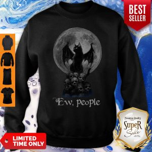 Mickey Bat And Black Cat Moon Skull Ew People Sweatshirt