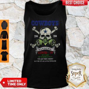 Premium Skull Cowboys 2020 Pandemic Covid-19 Tank Top