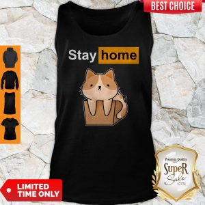 Funny Official Cat stay home Tank Top