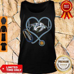 Star Heartbeat Nurse Nashville Predators Tank Top