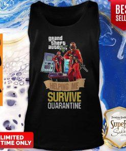 Pandamic Grand Theft Auto V Five Helping Me Survive Quarantine Tank Top