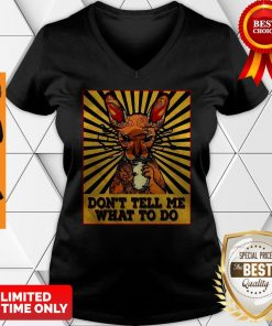 Funny Cat Tattoos Smoking And Drink Beer Don't Tell Me What To Do V-neck