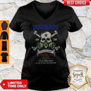 Premium Skull Cowboys 2020 Pandemic Covid-19 V-neck