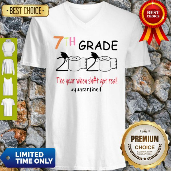 Toilet Paper 7th Grade 2020 The Year When Shit Got Real COVID-19 V-Neck