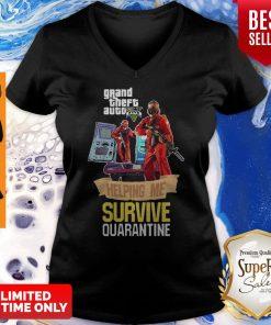 Pandamic Grand Theft Auto V Five Helping Me Survive Quarantine V-neck