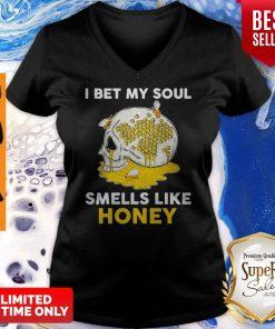 Awesome Skull I Bet My Soul Smells Like Honey V-neck