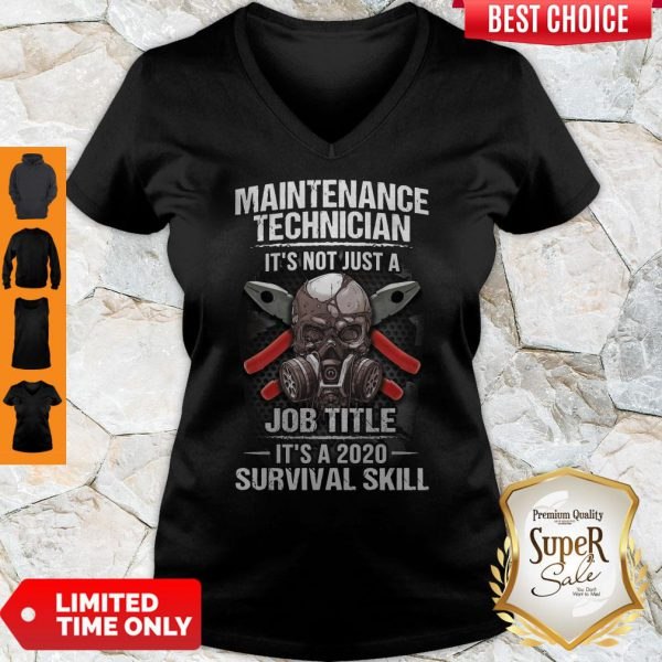 Awesome Technician Its Not Just A Job Title Its A 2020 Survival Skill V-neck