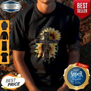 Faith Sunflower American Flag Shirt