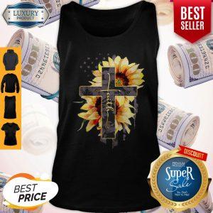 Faith Sunflower American Flag Tank Top