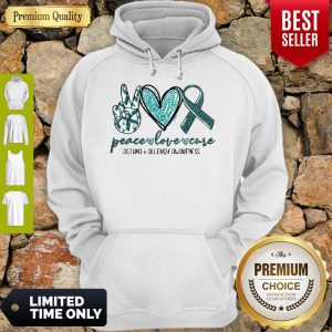 Funny Peace Love Cure Asthma Allergy Awareness Hoodie